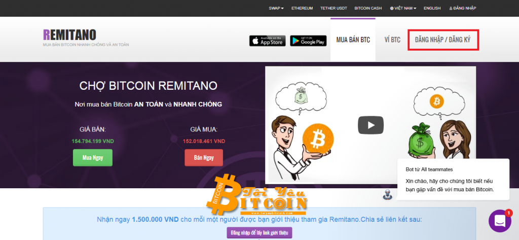 Sign up for a Remitano account.  Photo 1