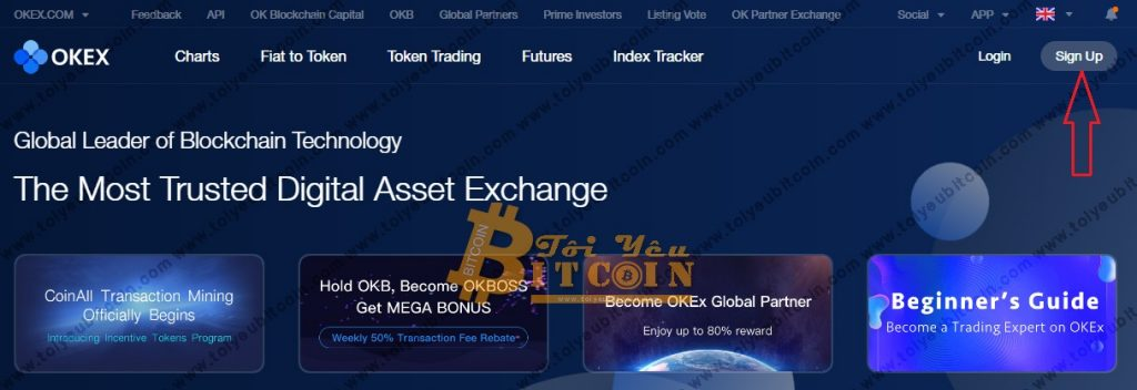 Register to open an OKEx account.  Photo 1