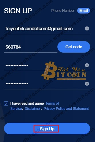 Register to open an OKEx account.  Photo 4