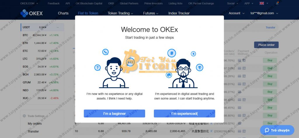Register to open an OKEx account.  Photo 5 Ảnh