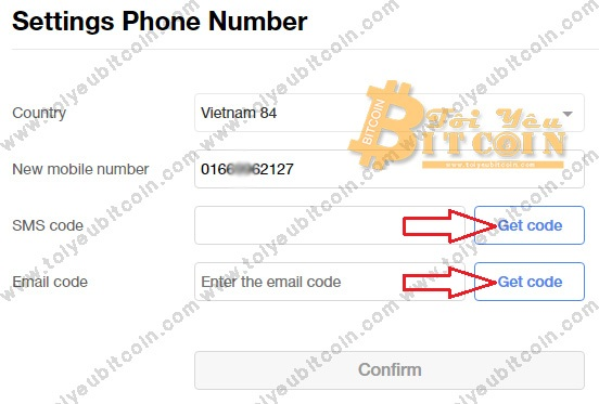 Verify phone number with OKEx.  Photo 3
