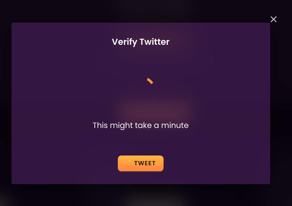 verify by twitter