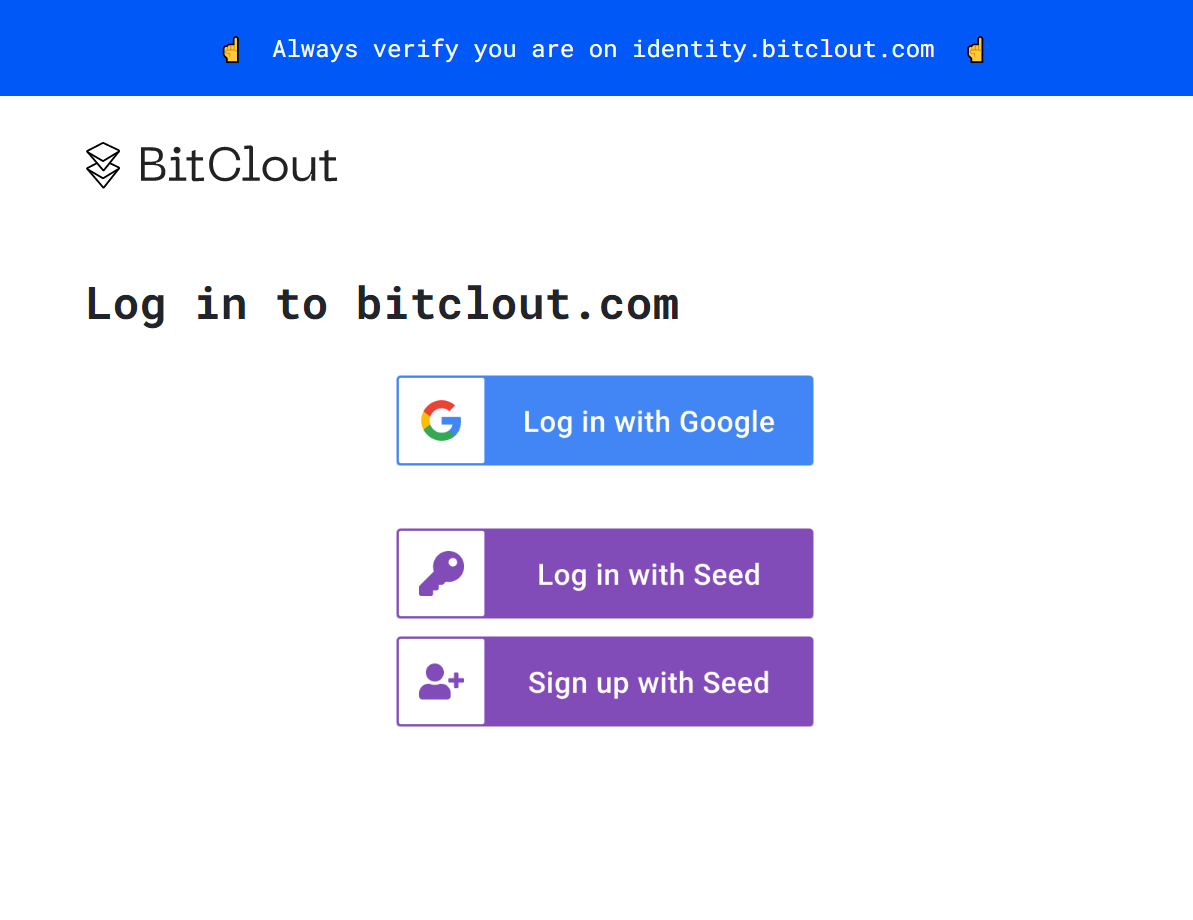 Log in With google